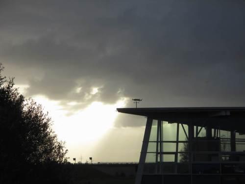 Wir treffen unseren Besuch gleich morgens am Multimar Wattforum, an der Eider, Tönning.