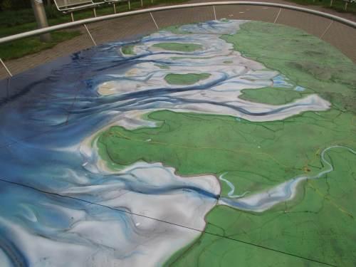 Ein schickes Modell zeigt die spannende Landschaft rund um die Halbinsel Eiderstedt.