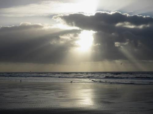 Zum Ausklang des Tages - nach Mittagessen, Ruhe und Kaffee gehen wir noch an den Strand vor Ording.